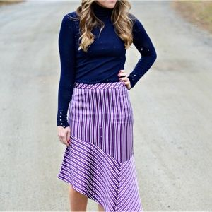 Banana Republic Purple Asymmetrical Skirt